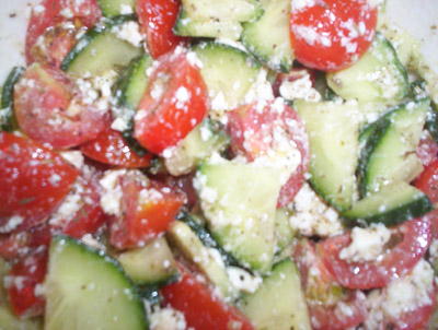 Cucina Testa Rossa: Cucumbers and Tomatoes and Feta, Oh My!