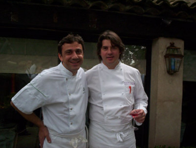 Chef Alain Llorca on the right